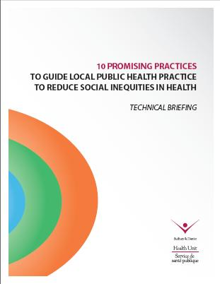 10 Promising Practices to Guide Local Public Health Practice to Reduce Social Inequities in Health