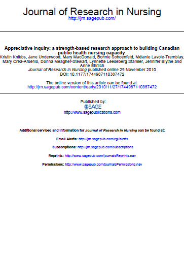 Appreciative inquiry: a strength-based research approach to building Canadian public health nursing capacity