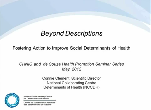 « Beyond Descriptions: Fostering Action to Improve Social Determinants of Health »