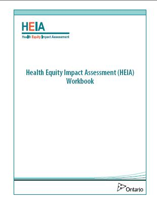 Health Equity Impact Assessment (HEIA) Tool