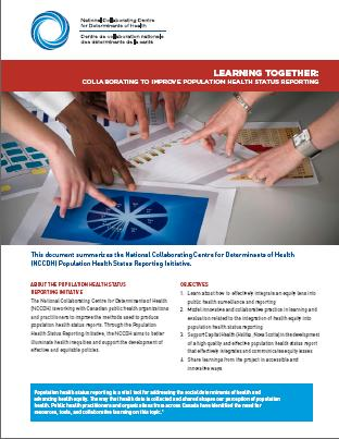 Population health status reporting:  The learning together series