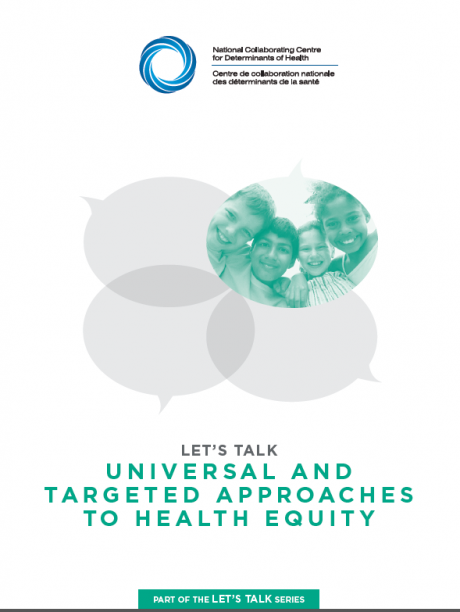 Let's talk… Universal and targeted approaches to health equity