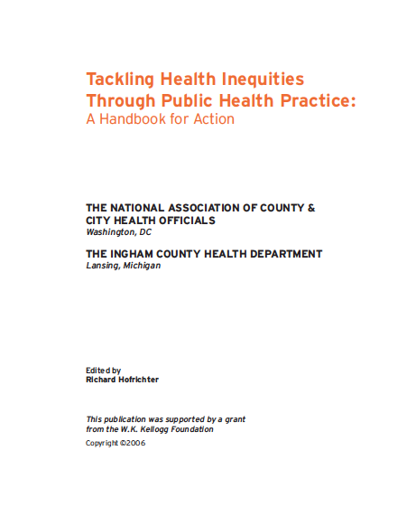 Tackling health inequities through public health practice: A handbook for action