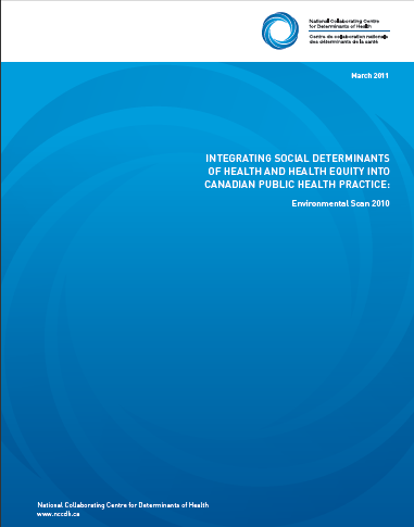 Environmental scan - Integrating social determinants of health and health equity into Canadian public health practice