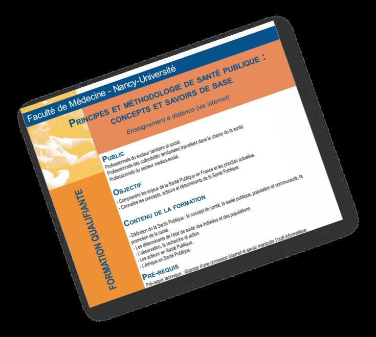 Principes et méthodologie de Santé Publique : Concepts et savoirs de base