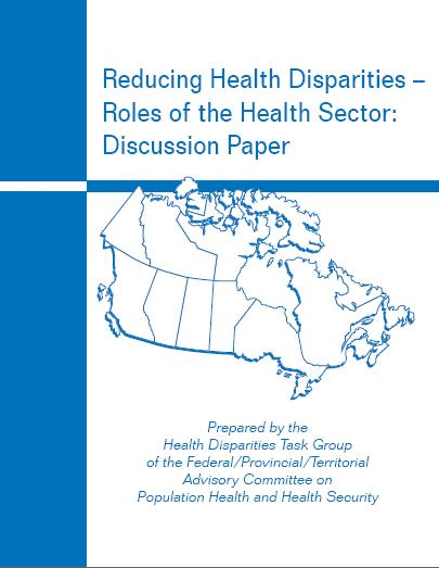 Reducing health disparities – Roles of the health sector