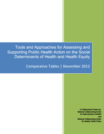 Tools and approaches for assessing and supporting public health action on the social determinants of health and health equity