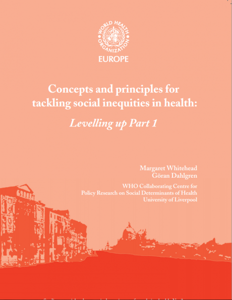 Concepts and Principles for Tackling Social Inequities in Health.  Levelling Up.  Part 1