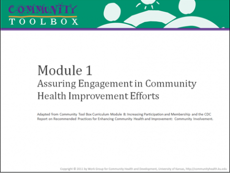 The community tool box — online courses for community health improvement