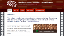 Indigenous cultural competency training program—online course
