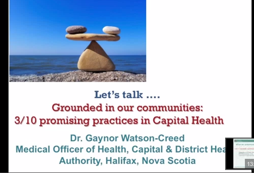 Grounded in our communities:  3/10 promising practices in Capital Health
