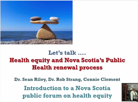 ≪ How public health in Nova Scotia is focusing on the social determinants of health and health equity ≫