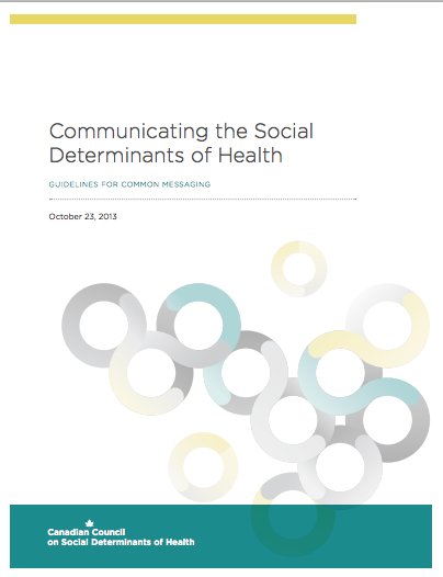 Communicating the social determinants of health common messaging guidelines
