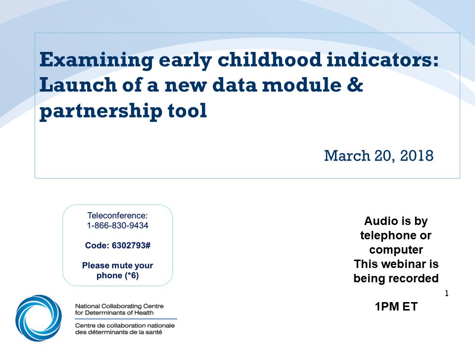 Webinar: Examining early childhood indicators: Launch of a new data module and partnership tool