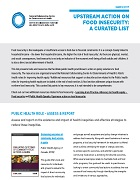 Upstream action on food insecurity: A curated list