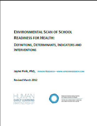 Environmental scan of school readiness for health