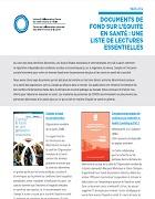 Documents de fond sur l'équité en santé : une liste de lectures essentielles