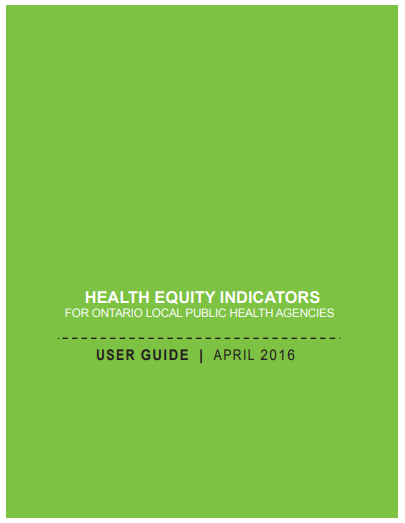 Health equity indicators for Ontario local public health agencies