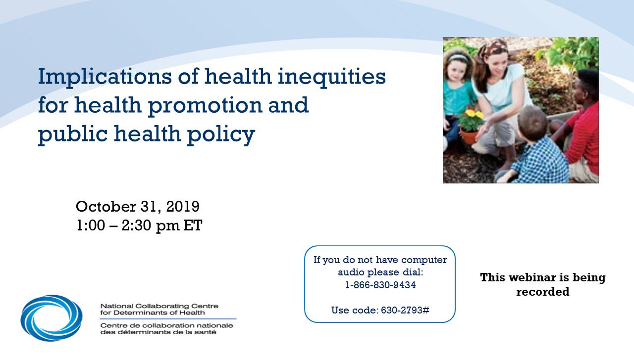 Health Promotion Canada webinar series