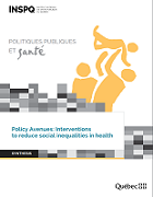 Policy avenues: Interventions to reduce social inequalities in health
