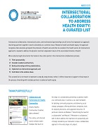 Intersectoral collaboration to address health equity: A curated list