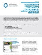 La collaboration intersectorielle à prendre en compte pour favoriser l'équité en santé : une liste de lectures essentielles