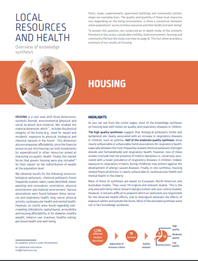 Local resources and health: Overview of knowledge synthesis