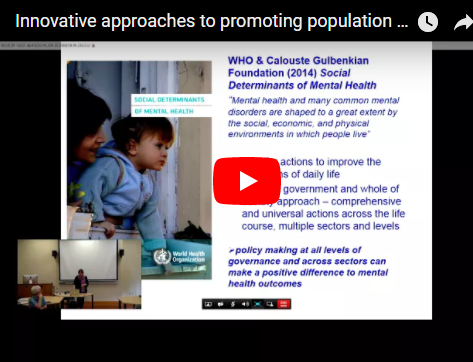 Innovative approaches to promoting population mental health and well-being