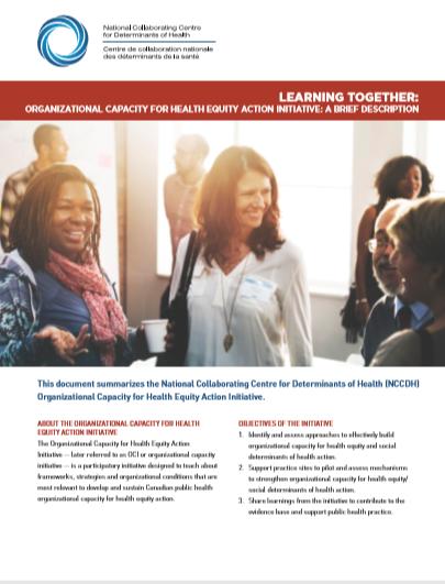 Organizational Capacity for Health Equity Action Initiative: Summary