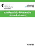 Income-related policy recommendations to address food insecurity