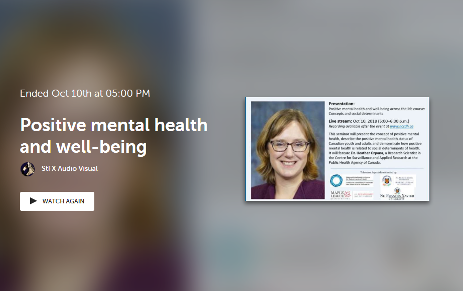 Positive mental health and well-being across the life course: Concepts and social determinants