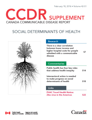 Canada communicable disease report: Social determinants of health