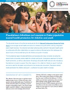 Foundations: Definitions and concepts to frame population mental health promotion for children and youth