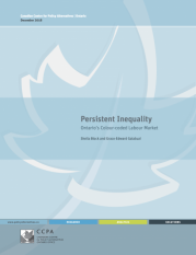 Persistent Inequality Ontario's Colour-coded Labour Market
