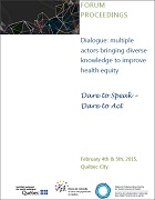 Multiple actors bringing diverse knowledge to improve health equity: Dialogue proceedings