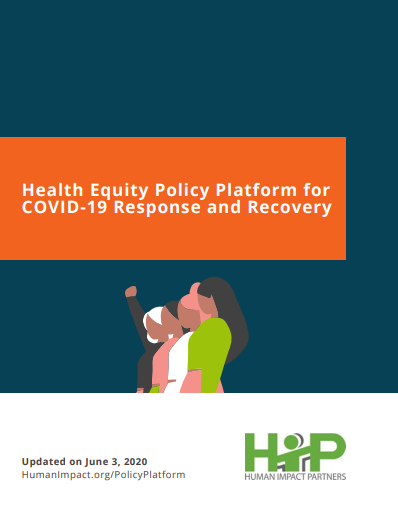 Health equity policy platform for COVID-19 response and recovery