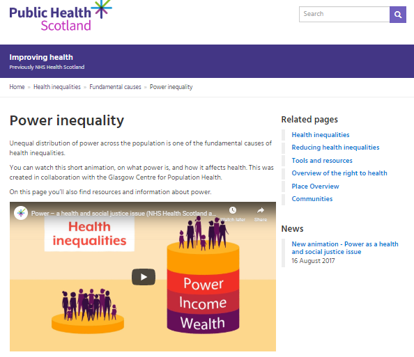 Power – a health and social justice issue
