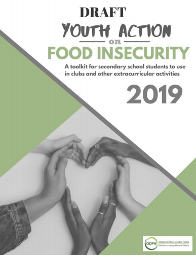 Youth action on food insecurity: A toolkit for secondary school students to use in clubs and other extracurricular activities (DRAFT)