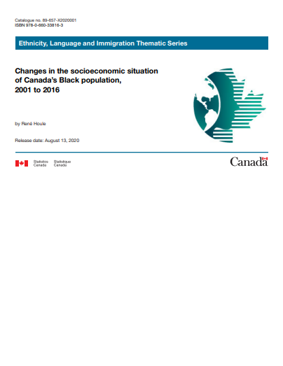 Changes in the socioeconomic situation of Canada's Black population, 2001 to 2016