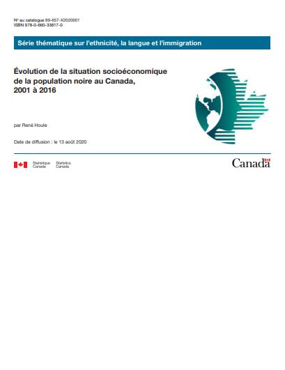Évolution de la situation socioéconomique de la population noire au Canada, 2001 à 2016