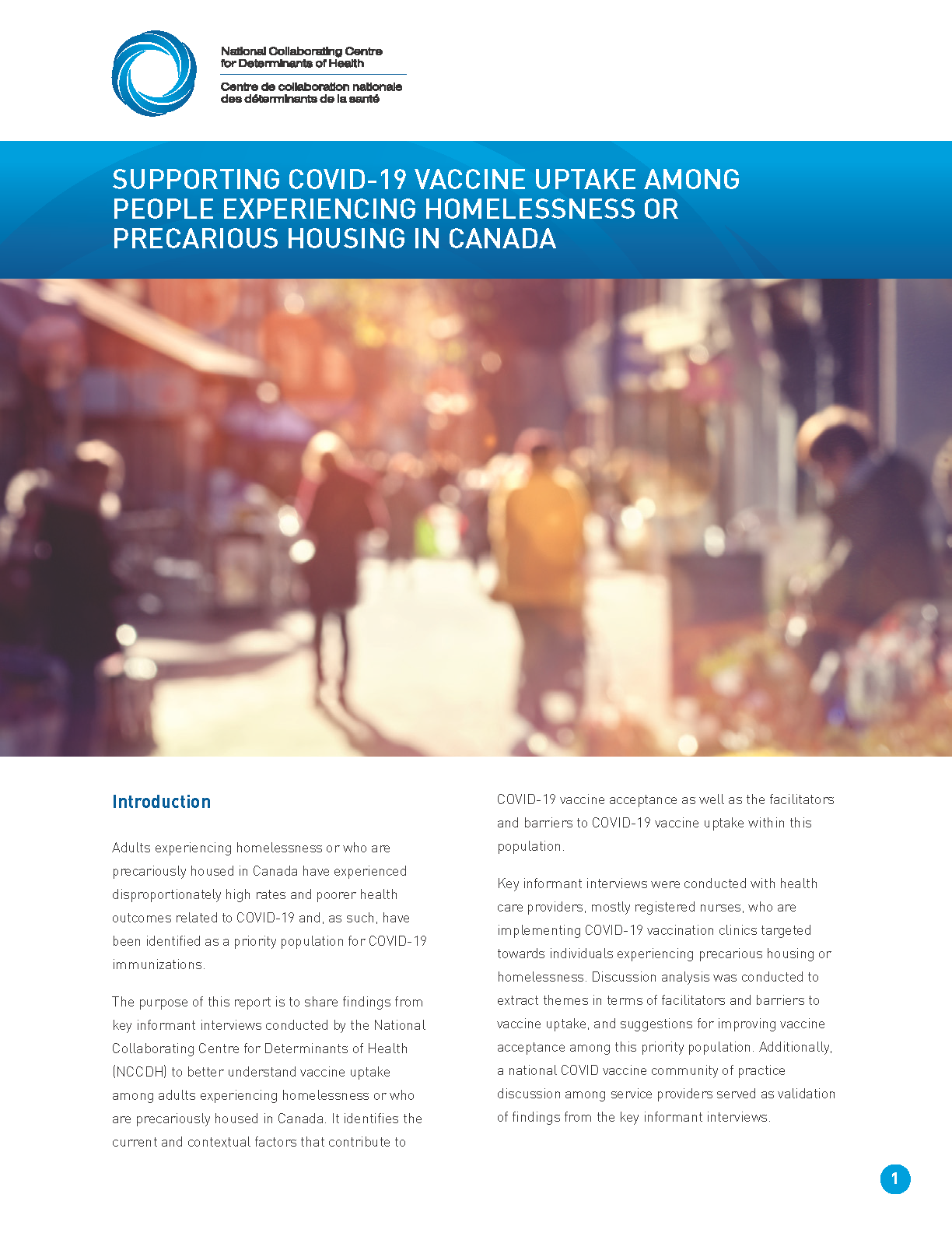 Supporting COVID-19 vaccine uptake among people experiencing homelessness or precarious housing in Canada