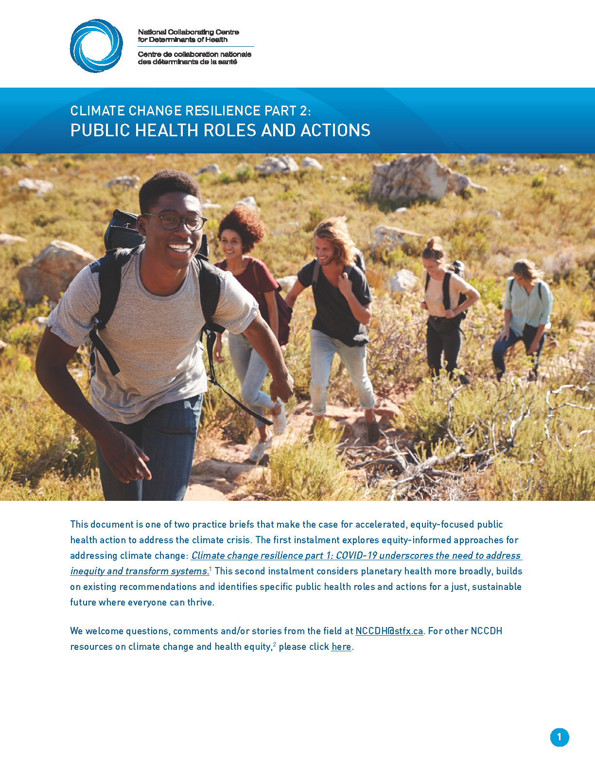 Climate change resilience part 2: Public health roles and actions