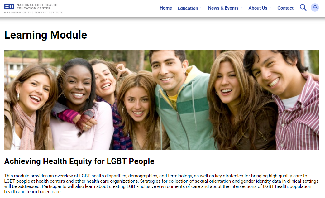 Achieving health equity for LGBT people