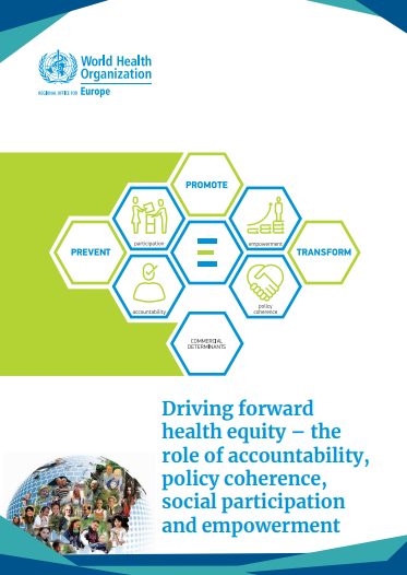 Driving forward health equity – the role of accountability, policy coherence, social participation and empowerment