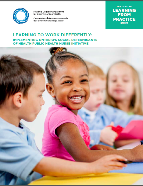 Learning to work differently: implementing Ontario's Social Determinants of Health Public Health Nurse Initiative