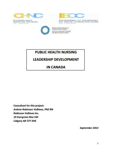 Public health leadership development in Canada