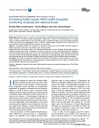 Promoting health equity: WHO health inequality monitoring at global and national levels