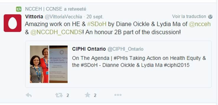 Dianne Oickle & Lydia Ma at CIPHI National conference