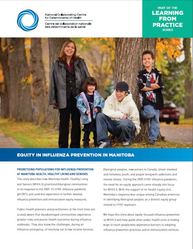 Apprendre par la pratique : l'équité dans la prévention de la grippe au Manitoba