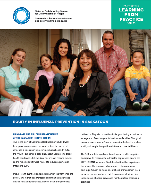 Learning from practice: Equity in influenza Prevention in Saskatoon